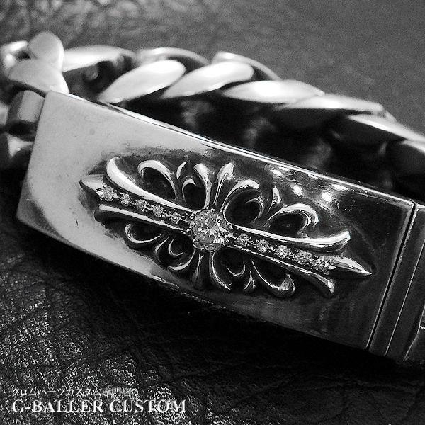 画像4: クロムハーツ フローラルID ブレス ダイヤカスタム