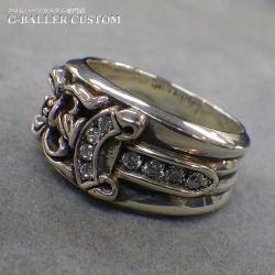 ダガーリング ダイヤ カスタム & 新品仕上 & いぶし加工
