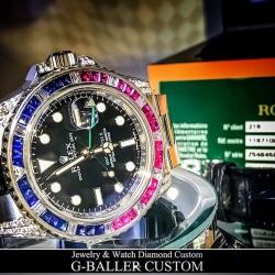 時計アフターダイヤ加工も大人気です!!