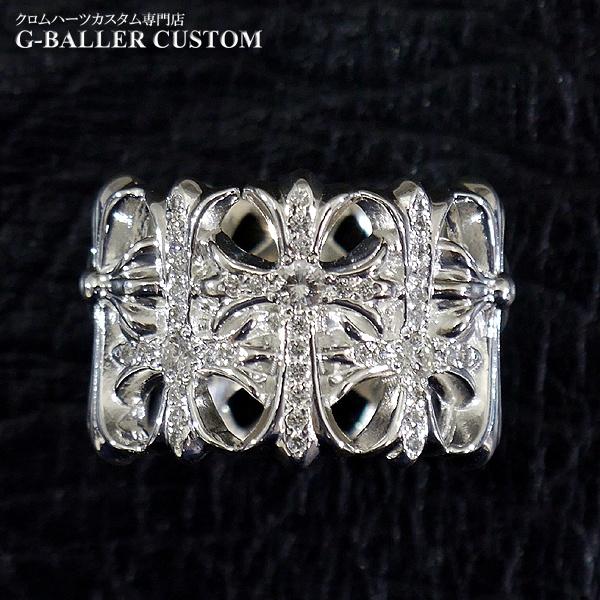 画像2: クロムハーツリング ダイヤカスタム セメタリークロス パヴェダイヤ