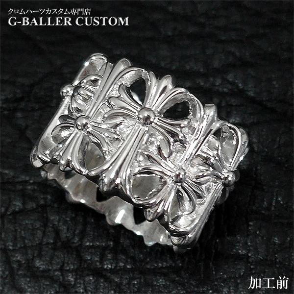 画像4: クロムハーツリング ダイヤカスタム セメタリークロス パヴェダイヤ