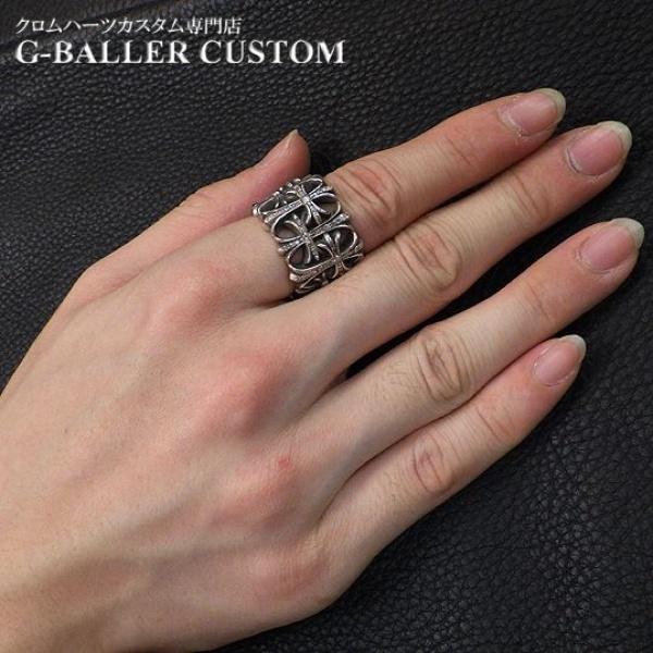 画像4: クロムハーツ セメタリークロスリング ダイヤ カスタム
