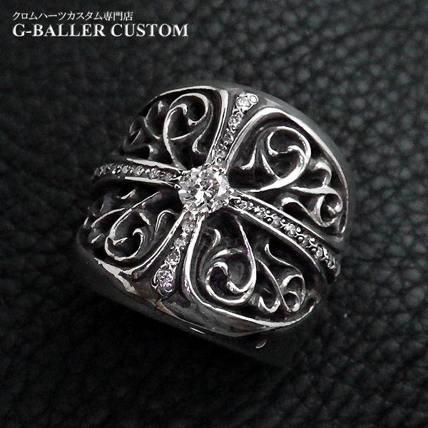 画像1: クロムハーツ オーバルクロス ダイヤ カスタム