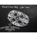 フローラルクロス リング ダイヤ カスタム