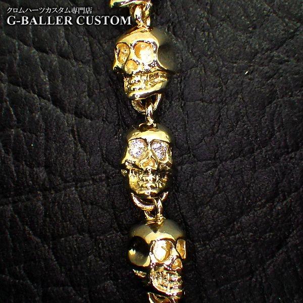 画像4: ガラード スカル 金 ブレスレット ダイヤ カスタム