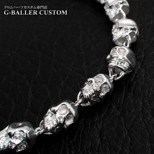 画像2: ガラード スカル 銀 ブレスレット ダイヤ カスタム