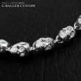 画像3: ガラード スカル 銀 ブレスレット ダイヤ カスタム (3)