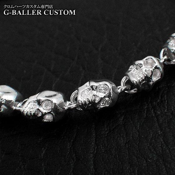 画像3: ガラード スカル 銀 ブレスレット ダイヤ カスタム