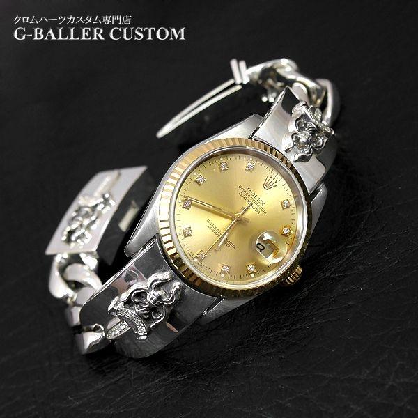 画像1: クロムハーツ ロレックス 時計 ウォッチバンド ダイヤ
