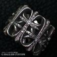画像3: クロムハーツ セメタリークロスリング ダイヤ カスタム (3)